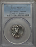 Jefferson Nickels, 2011-P 5C MS67+ Full Steps PCGS. Ex: Steve Strom Collection. PCGS Population (76/0 and 1/0+). NGC Census: (63/1 and 0/0+)....