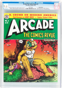 Arcade the Comics Revue #2 (Print Mint, 1975) CGC NM+ 9.6 White pages