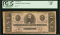 Confederate Notes:1862 Issues, Fully Framed T55 $1 1862.. ...