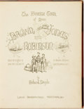 Books:Travels & Voyages, [Travels & Voyages, Cartoons]. Richard Doyle. The Foreign Tour of Messrs Brown, Jones, and Robinson: Being the History o...
