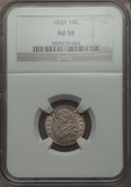 Bust Dimes, 1820 10C Small 0 AU58 NGC. PCGS Population (5/8). Numismedia Wsl.Price for problem free NGC/PCGS coin ...