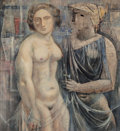 Post-War & Contemporary, Thomas Duncan Benrimo (American, 1887-1958). Sappho, 1957.Oil on board. 24 x 22 inches (61.0 x 55.9 cm). Signed lower l...