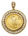 Estate Jewelry:Pendants and Lockets, Diamond, Gold Coin, Gold Pendant. ...