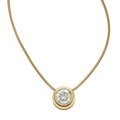 Estate Jewelry:Pendants and Lockets, Diamond, Gold Pendant-Necklace. ...