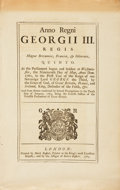 Books:Prints & Leaves, [Law]. Approximately Thirty-Seven English Law Acts on East IndiaCompany and Military. Various dates circa 1750-1850....