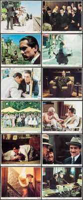 """The Godfather Part II (Paramount, 1974). Mini Lobby Card Set of 12 (8"""" X 10""""). Crime. ... (Total: 12 Items)"""