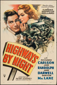 "Highways by Night (RKO, 1942). One Sheet (27"" X 41""). Adventure"