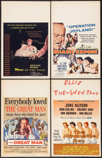 """Wicked as They Come & Others Lot (Columbia, 1956). Window Cards (6) (14"""" X 22"""", & 16.5"""" X 22""""..."""