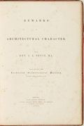 Books:Art & Architecture, Rev. John Lewis Petit. Remarks on Architectural Character. By the Rev. J. L. Petit, M. A. Read Before The Lichfield Arch...