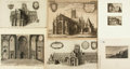 Books:Prints & Leaves, [Roman Ruins, Whitehall, Cathedrals]. Wenceslaus Hollar. SevenEtchings. 1650-1658. Includes: Title to Roman Ruins...