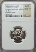 Ancients:Greek, Ancients: THESSALY. Thessalian League. Ca. 196-146 BC. ARdouble-victoriatus or stater (6.28 gm)....
