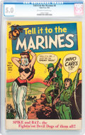 Golden Age (1938-1955):War, Tell it to the Marines #4 (Toby Publishing, 1952) CGC VG/FN 5.0Off-white to white pages....