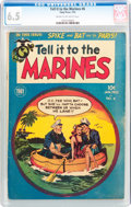 Golden Age (1938-1955):War, Tell it to the Marines #6 (Toby Publishing, 1953) CGC FN+ 6.5 Creamto off-white pages....