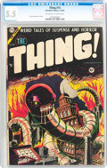 Golden Age (1938-1955):Horror, The Thing! #15 (Charlton, 1954) CGC FN- 5.5 Off-white to whitepages....