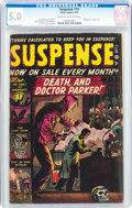 Golden Age (1938-1955):Crime, Suspense #14 (Atlas, 1952) CGC VG/FN 5.0 Cream to off-white pages....