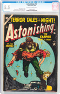 Golden Age (1938-1955):Horror, Astonishing #32 (Atlas, 1954) CGC FN- 5.5 Off-white to whitepages....