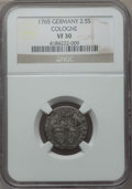 German States:Cologne, German States: Cologne. Bishopric Pair of Certified 18th Century Minors,... (Total: 2 coins)