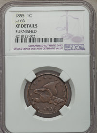 1855 P1C Flying Eagle Cent, Judd-168 Original, Pollock-193, R.4 -- Burnished -- NGC Details. XF. NGC Census: (0/67). PCG...