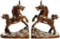 Books:Furniture & Accessories, [Bookends]. Pair of Matching Bookends Depicting Unicorns. [OMCJapan], Undated.... (Total: 2 Items)