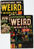 Golden Age (1938-1955):Horror, Adventures Into Weird Worlds #8 and 13 Group (Atlas, 1952)Condition: Average FR/GD.... (Total: 2 Comic Books)