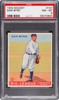 Baseball Cards:Singles (1930-1939), 1933 Goudey Sam Byrd #157 PSA NM-MT 8....