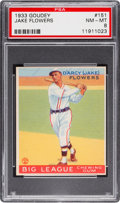 Baseball Cards:Singles (1930-1939), 1933 Goudey Jake Flowers #151 PSA NM-MT 8 - None Higher! ...