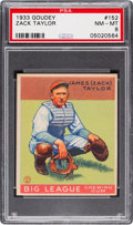 Baseball Cards:Singles (1930-1939), 1933 Goudey Zack Taylor #152 PSA NM-MT 8 - None Higher....