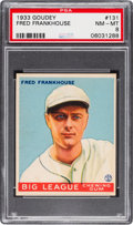 Baseball Cards:Singles (1930-1939), 1933 Goudey Fred Frankhouse #131 PSA NM-MT 8 - None Higher!...