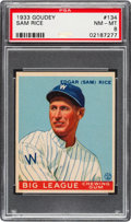 Baseball Cards:Singles (1930-1939), 1933 Goudey Sam Rice #134 PSA NM-MT 8....