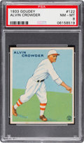 Baseball Cards:Singles (1930-1939), 1933 Goudey Alvin Crowder #122 PSA NM-MT 8....