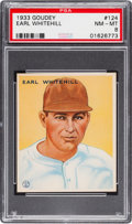 Baseball Cards:Singles (1930-1939), 1933 Goudey Earl Whitehill #124 PSA NM-MT 8....