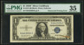 Error Notes:Obstruction Errors, Fr. 1615 $1 1935F Silver Certificate. PMG Choice Very Fine 35.. ...