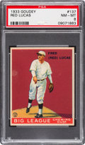 Baseball Cards:Singles (1930-1939), 1933 Goudey Red Lucas #137 PSA NM-MT 8 - None Higher!...