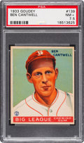 Baseball Cards:Singles (1930-1939), 1933 Goudey Ben Cantwell #139 PSA NM+ 7.5....