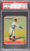 Baseball Cards:Singles (1930-1939), 1933 Goudey Ray Benge #141 PSA NM-MT 8....