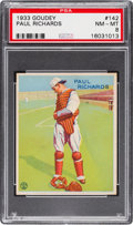 Baseball Cards:Singles (1930-1939), 1933 Goudey Paul Richards #142 PSA NM-MT 8....