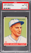 Baseball Cards:Singles (1930-1939), 1933 Goudey Leo Durocher #147 PSA NM-MT 8....