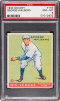 Baseball Cards:Singles (1930-1939), 1933 Goudey George Walberg #145 PSA NM-MT 8 - None Higher!...