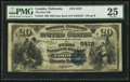National Bank Notes:Nebraska, Loomis, NE - $20 1882 Date Back Fr. 555 The First NB Ch. # (W)5419. ...