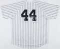 Baseball Collectibles:Uniforms, Reggie Jackson Signed New York Yankees Jersey....