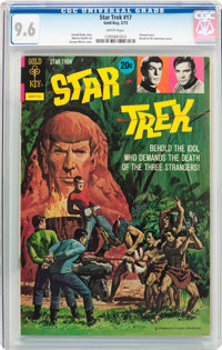 Star Trek #17 (Gold Key, 1973) CGC NM+ 9.6 White pages