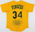 Autographs:Bats, Rollie Fingers Signed Oakland Athletics Jersey....