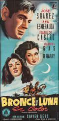 "Movie Posters:Foreign, Bronze and Moon (Ignacio Ferrer Iquino, 1953). Spanish Three Sheet (39"" X 80.5""). Foreign.. ..."