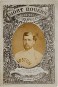 Baseball Cards:Singles (Pre-1930), 1872 Mort Rogers Boston Red Stockings vs. Baltimore Canaries Photographic Scorecard #1 Picturing Harry Wright....