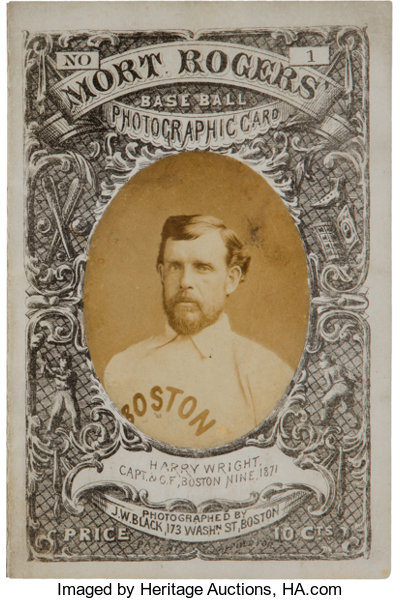 1872 Mort Rogers Boston Red Stockings Vs Baltimore Canaries Lot