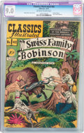 Golden Age (1938-1955):Classics Illustrated, Classics Illustrated #42 Swiss Family Robinson - Original Edition(Gilberton, 1947) CGC Conserved VF/NM 9.0 Off-white to white...