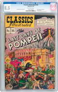 Golden Age (1938-1955):Classics Illustrated, Classics Illustrated #35 The Last Days of Pompeii - OriginalEdition (Gilberton, 1947) CGC VF+ 8.5 Off-white pages....