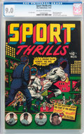 Golden Age (1938-1955):Miscellaneous, Sport Thrills #15 (Star Publications, 1951) CGC VF/NM 9.0 Off-white to white pages....