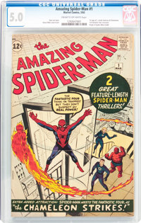 The Amazing Spider-Man #1 (Marvel, 1963) CGC VG/FN 5.0 Cream to off-white pages