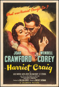 "Movie Posters:Drama, Harriet Craig (Columbia, 1950). One Sheet (27"" X 41""). Drama.. ..."
